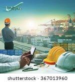 business man using computer... | Shutterstock . vector #367013960