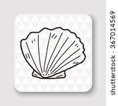 shell doodle | Shutterstock . vector #367014569