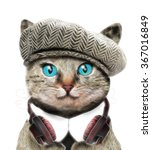 Stock photo funny cat t shirt graphic book illustrations for children animal cartoon character 367016849