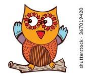 owl doodle vector | Shutterstock .eps vector #367019420