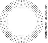 halftone round dots . circle... | Shutterstock .eps vector #367023404