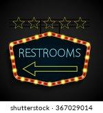 shining retro light banner... | Shutterstock .eps vector #367029014