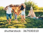 dad mom daughter family... | Shutterstock . vector #367030310