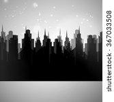 Night City Panorama  Vector...