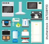 big  appliance set  isolated... | Shutterstock .eps vector #367038950