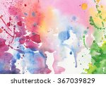 watercolor painted on paper... | Shutterstock . vector #367039829
