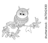 coloring book for adult and... | Shutterstock .eps vector #367042430