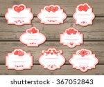 vector set of labels with...   Shutterstock .eps vector #367052843