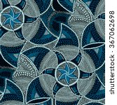 mosaic round blue tiles with... | Shutterstock . vector #367062698