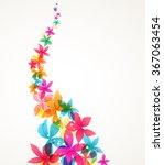 vector abstract flowers | Shutterstock .eps vector #367063454