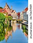 Bruges  Belgium. Scenery With...