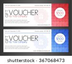 modern simple voucher with... | Shutterstock .eps vector #367068473