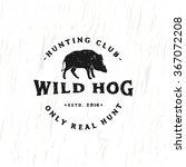 vintage hunting club emblem... | Shutterstock .eps vector #367072208