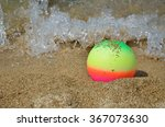 colorful beach ball in shallow... | Shutterstock . vector #367073630