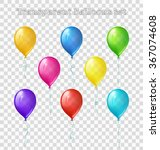 set of eight bright colored... | Shutterstock .eps vector #367074608