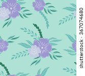 seamless pattern with flowers.... | Shutterstock .eps vector #367074680