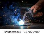 worker welding the iron | Shutterstock . vector #367079900