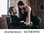 light my fire  beautiful young... | Shutterstock . vector #367083950