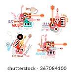 music festival poster. vector.... | Shutterstock .eps vector #367084100