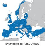 members of nato in europe | Shutterstock .eps vector #36709003