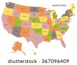 united states map   Shutterstock .eps vector #367096409