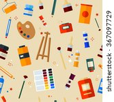tools materials for creativity... | Shutterstock .eps vector #367097729