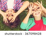 summer time fun. top view of... | Shutterstock . vector #367098428