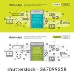 set of modern line design...