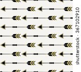 seamless pattern with arrows in ... | Shutterstock .eps vector #367102910