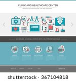 healthcare and medicine web... | Shutterstock .eps vector #367104818