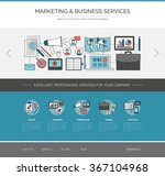 marketing and communication web ... | Shutterstock .eps vector #367104968