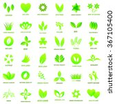 ecology icon set  on white... | Shutterstock .eps vector #367105400
