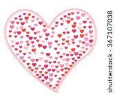 vector heart illustration | Shutterstock .eps vector #367107038