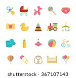 baby icons. doodle elements set....   Shutterstock .eps vector #367107143