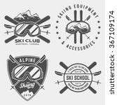 vector set of skiing logos ...