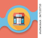 building convenient store flat... | Shutterstock .eps vector #367110710