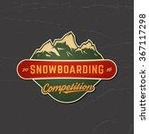 snowboarding emblem. logotype... | Shutterstock .eps vector #367117298