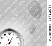 white clock background with... | Shutterstock .eps vector #367118759