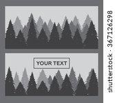 pine forest horizontal banner... | Shutterstock .eps vector #367126298