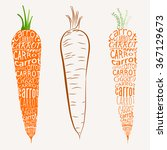 typographic print with carrot.... | Shutterstock .eps vector #367129673