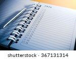3d blank personal agenda close... | Shutterstock . vector #367131314