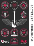 set of logos rock music and... | Shutterstock .eps vector #367131779