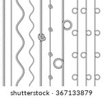 twisted rope border set ... | Shutterstock .eps vector #367133879