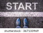 word start written on an... | Shutterstock . vector #367133969