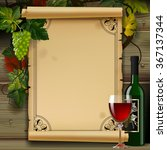 wine list with old parchment ... | Shutterstock . vector #367137344