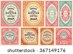 retro cards set. elements... | Shutterstock .eps vector #367149176