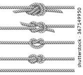 white twisted rope border set ... | Shutterstock .eps vector #367149950