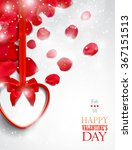 valentine's day greeting card... | Shutterstock . vector #367151513