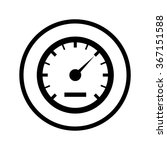 speedometer icon in a circle | Shutterstock .eps vector #367151588