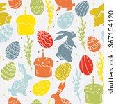 easter seamless | Shutterstock .eps vector #367154120